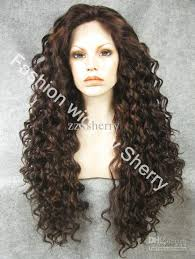 kanekalon and human hair tangles 26 extra long 6 30 highlighted brown heat friendly lace front