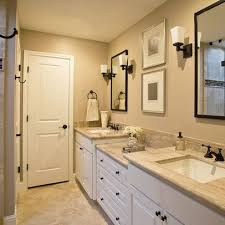 bathrooms with white cabinets bathroom neutral wall and counters white cabinets and tile in