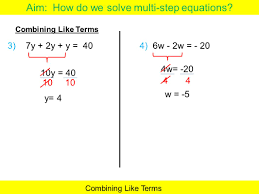 multi step equations answers
