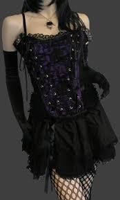 Satin Panel Purple Tabatha Gothic Corset