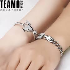 bracelet sets teamo his and hers bracelets key to my heart bangle and bracelet