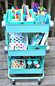how to set up a kids arts crafts cart natural beach living