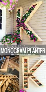 Home Design 3d Outdoor And Garden Tutorial Remodelaholic Diy Monogram Planter Tutorial