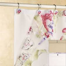 fabric shower curtain liner with weighted hem