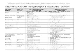 sample risk management plan template example bid proposal