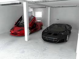 elegant design inspiration for modern style white garage interior simple modern garage interior with plain white paint also ceiling lights