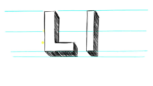 how to draw a 3d m how to draw 3d letters m uppercase m and
