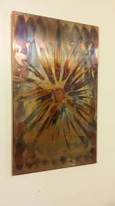 flame painted copper wall art copper wall art copper wall and walls flame painted copper wall art