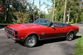 1968 camaro rs ss convertible for sale a picture review of the chevrolet camaro from 1967 to 1973