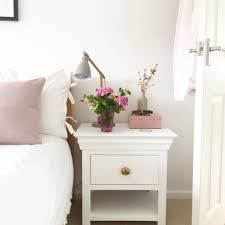 how to upcycle a bedside table with chalk paint and new brassware