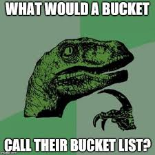 Meme Bucket - what would be on a buckets bucket list anyway imgflip