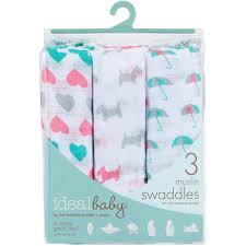 ideal baby by the makers of aden anais muslin swaddles 3 pack