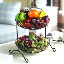 metal fruit basket kitchen fruit basket bemine co