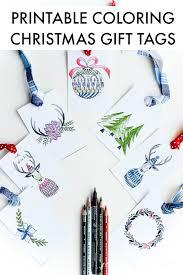 free printable christmas tags color