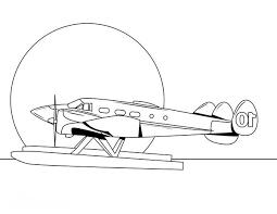 passenger amphibian airplane coloring page download u0026 print