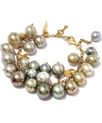 charm bracelet pearl images Kojis multicolour tahitian pearl charm bracelet lyst jpeg