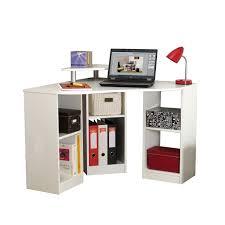 bureau angle ordinateur bureau d angle informatique contemporain coloris blanc romane