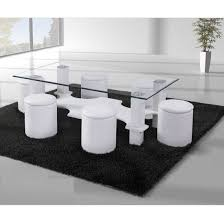 White Glass Kitchen Table by 100 Best 4 Seater Glass Dining Sets Images On Pinterest Dining