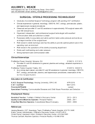 Vet Tech Resume Examples by Astonishing Surgical Technologist Resume 9 Nice Design Surgical
