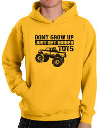 dont grow up buy bigger toys hoodie rover parody men off road got