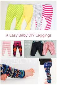 Upcycle Leggings - five different super easy diy baby leggings don u0027t spend money on