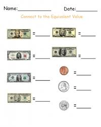 write the denomination money printable worksheets give a like