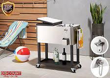 ice party cooler carts split lids ebay