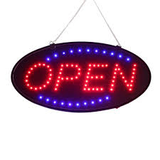 neon mart led lights sale 19x10 bright animated oval open mart shop led store sign