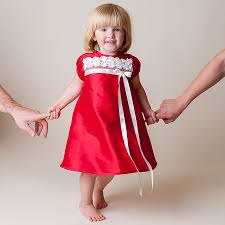 red color beautiful toddler dress 2014 trendy mods com