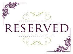 reserved signs for wedding tables 10 reserved wedding table signs total of 10 gold silver diy
