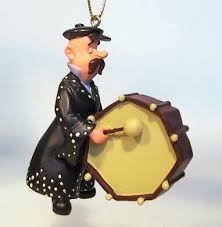 pearly king drummer storybook ornament from our