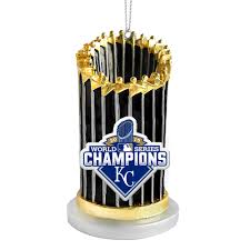 kansas city royals 2015 world series chions trophy ornament