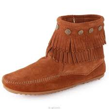 womens boots canada sale minnetonka fringe s boots in chestnut suede free
