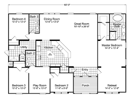 home floor plans with photos the hacienda vr41604a manufactured home floor plan or modular