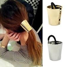 hair cuff gold fashionable style metal hair cuff band ponytail holder