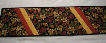 Fall Table Runners by Handmade Unique Quilted Table Runners Over 40