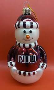 niu northern illinois huskies vcb ornaments