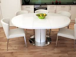 dining stunning decoration round dining table white classy