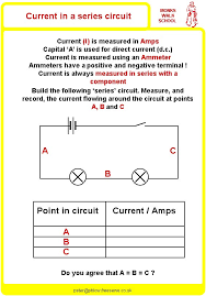 current in a series circuit worksheet physicsinfo
