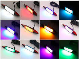 glasses with lights on the side customized universal app controlled multi color led wheel fender