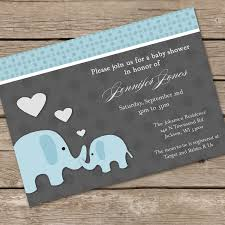 Unique Baby Shower Invitation Cards Elephant Baby Shower Invites Kawaiitheo Com