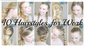 10 quick heatless updos for work youtube