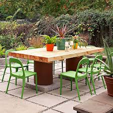 Building Outdoor Wooden Tables by Diy Outdoor Furniture Ideas To Perk Up Your Gardens Home Design