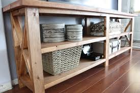 rustic x console table ana white rustic x console table diy projects modern tables
