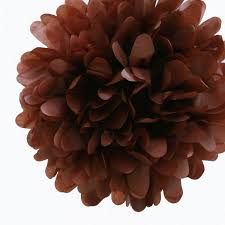 brown tissue paper quasimoon ez fluff 16 brown tissue paper pom poms flowers balls