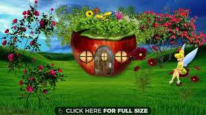 Cute House by Cute House Little Tinkel Bell Nature Wallpaper