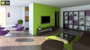 the interior of the living room and dining room developer from