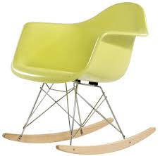 charles e style retro rar fibreglass rocking chair style