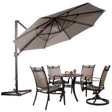 11 Ft Offset Patio Umbrella Abba Patio 11 Aluminum Offset Cantilever Umbrella With Cross
