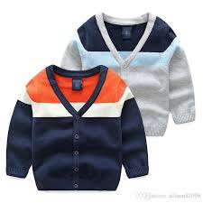 handsome boys clothing cardigan sweaters for kid casual striped